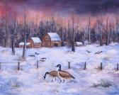 Winter Geese Frame able Note Cards