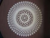 Winds of Change Doily in maize yellow cotton thread