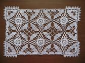 Dainty White Rectangle Crocheted Doily
