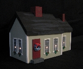 Lighted House Cape Style Country Green