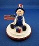 Polymer Clay Figurine  Joe Patriot
