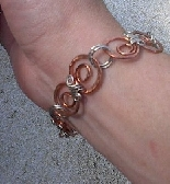 Copper Sun Swirls Bracelet