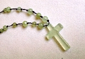 Natural Jade Necklace with Natural Jade Cross Pendant