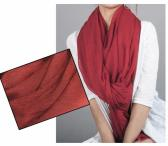 Extra large red wine color 100 percent silk scarf