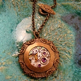 Upcycled Movement Unique Artisan Steampunk Necklace