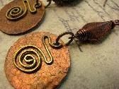 Hammered Vintaj Artisan Copper Earrings