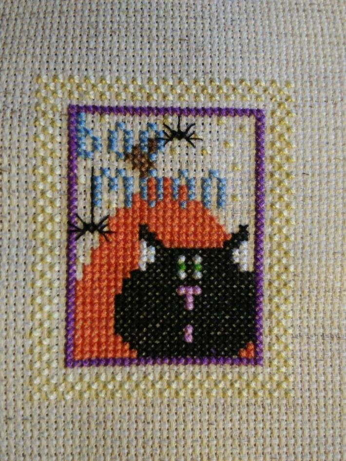 Halloween Cross Stitch Finished Piece