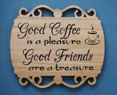 Coffee and Friends Wall Decor Cut On Scroll Saw