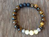 Tigers Eye Citrine Protection Aromatherapy Bracelet