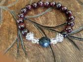 Garnet Passion Aromatherapy Stretch Bracelet