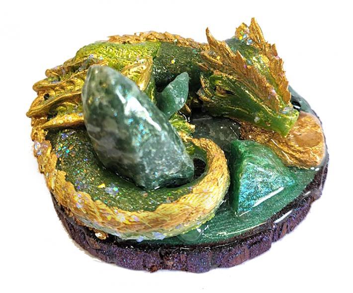 Genuine Aventurine Gemstone Dragon Figure