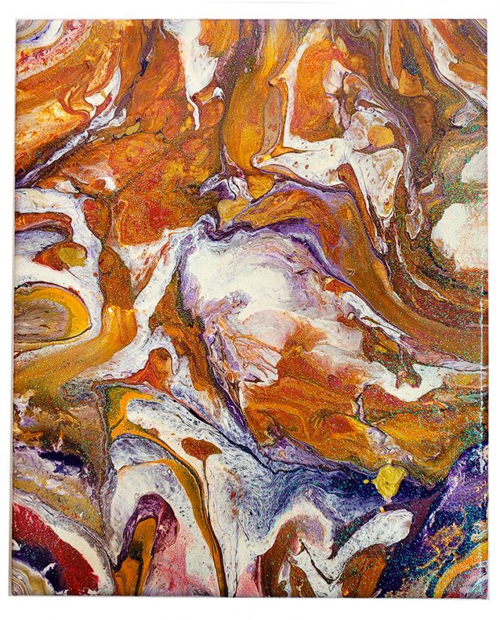 Shades of Amber Acrylic Painting