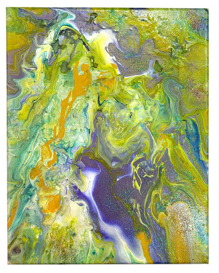 Shades of  Green Acrylic Painting