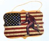Bigfoot Wooden Plaque