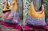 Hmong textile tassel cross body bag HB 290 A1