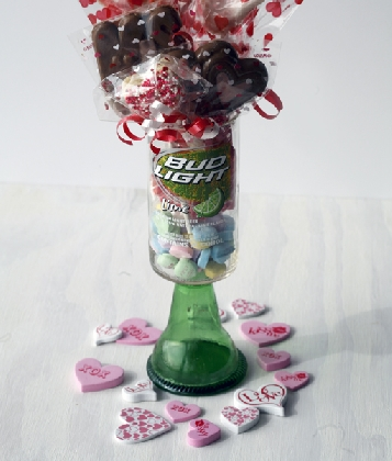 Handcrafted High Quality Chocolate Lollies in Recycled Beer Glass