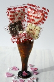 Handcrafted High Quality Chocolate Lollies in Recycled Glass