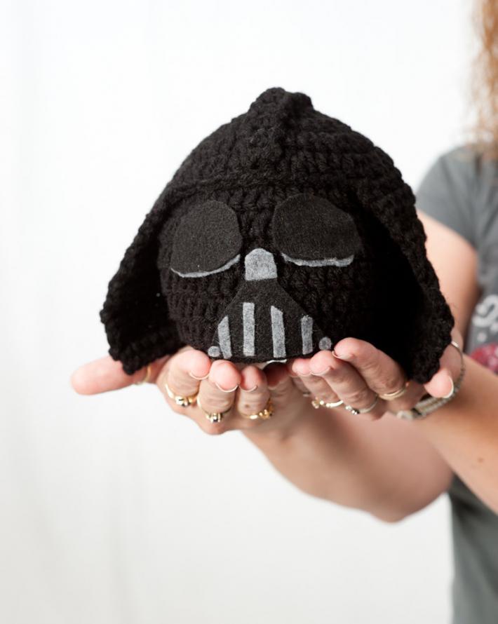 Crochet Hat Star Wars inspired Darth Vader Hat Beanie baby hat