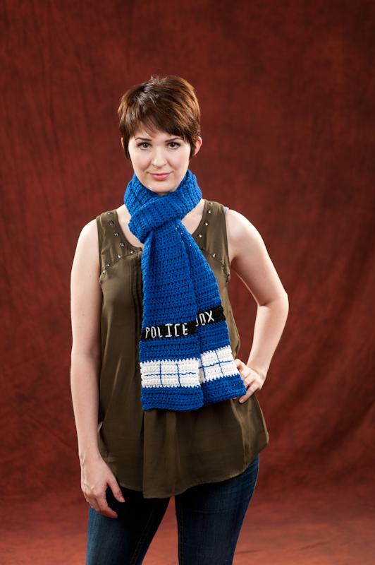 Inspired By Dr Who Tardis Scarf