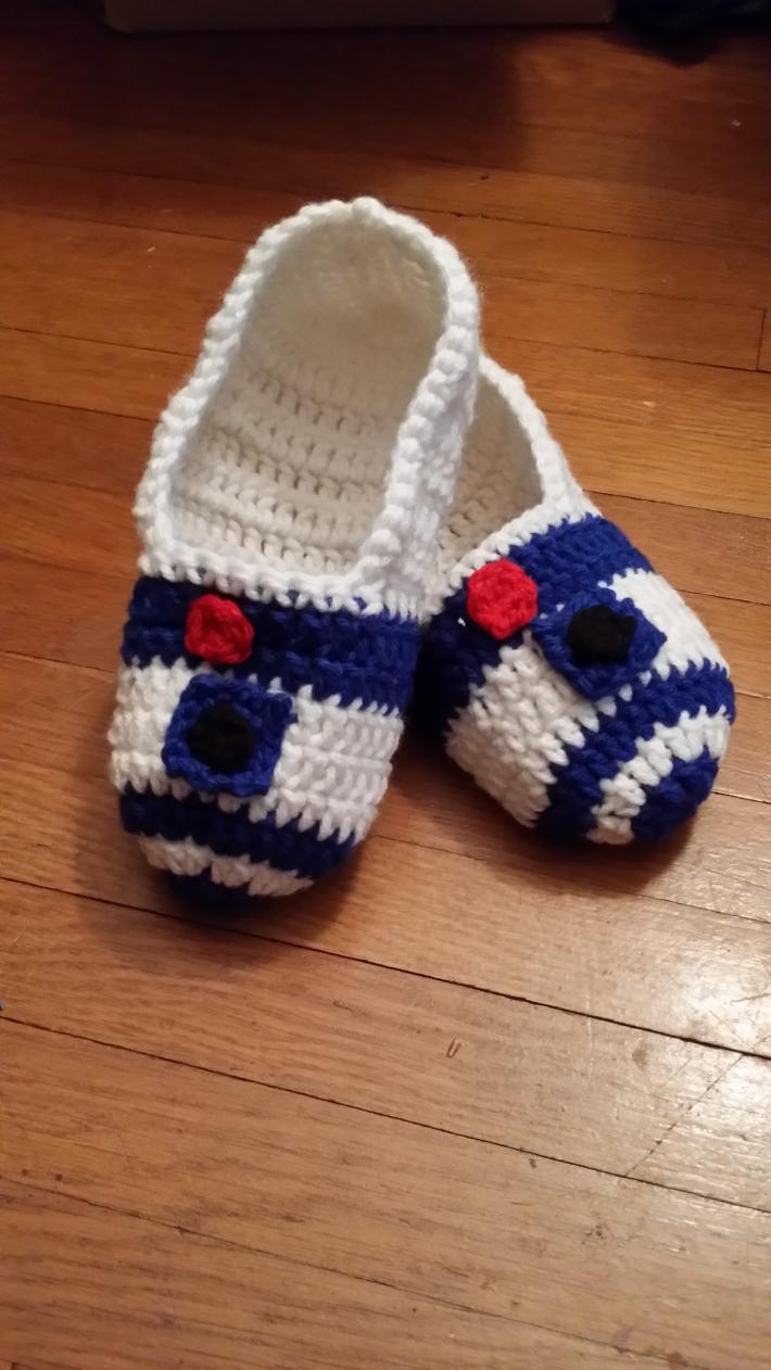 Slippers Inspired by R2D2