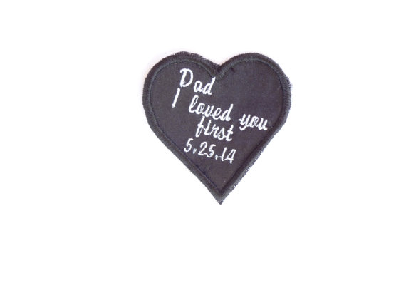 Heart Tie Label for Father of the Bride by InitialImpressions