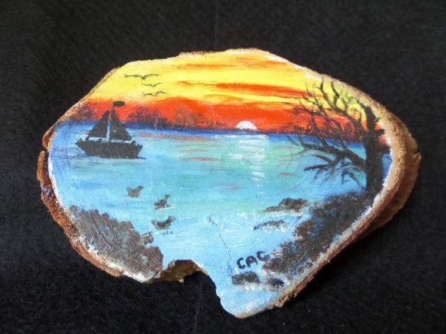 Sunset Wood Slice