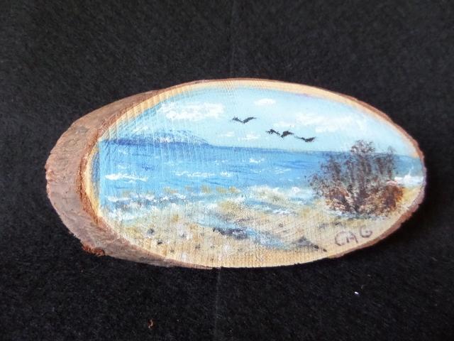 Beach Time Wood Slice