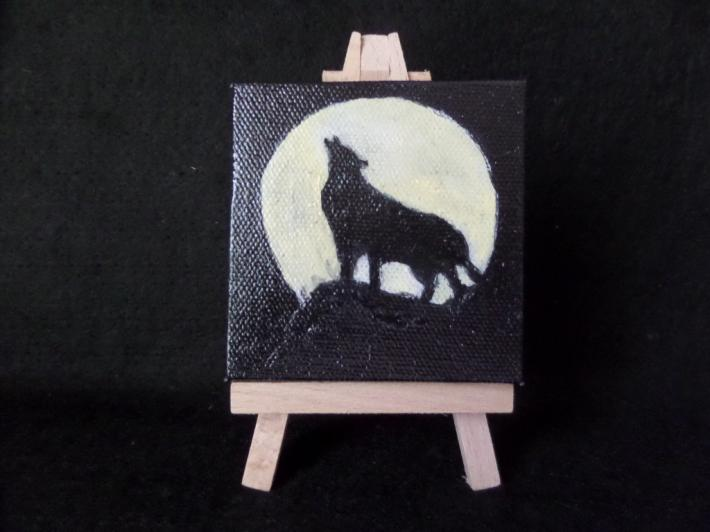 Howling at the Moon Wolf