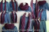 Free Shipping Plum Scarf Infinity Chain Crochet Winter Accessories Fall Fashion