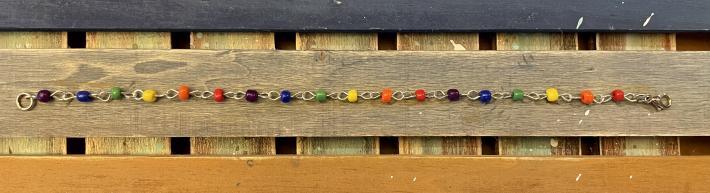 Beaded Wire Rainbow Bracelet
