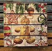 Wooden Gingerbread Gift Box
