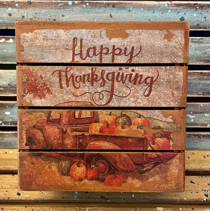 Wooden Thanksgiving Gift Box