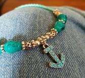 Anklet with Anchor Charm