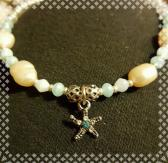 Peach Anklet with Starfish