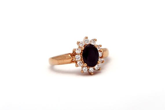 Elegant Gold Filled Onyx Ring