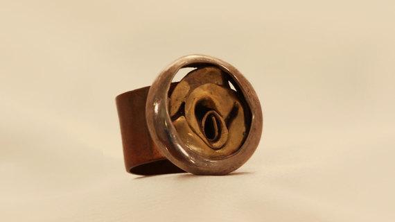 Three Metals Sculptural Ring