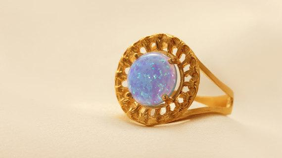 Beautiful Gold Filled Ring With Moonstone