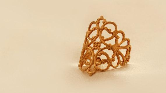 Amazing Gold filled Retro Ring