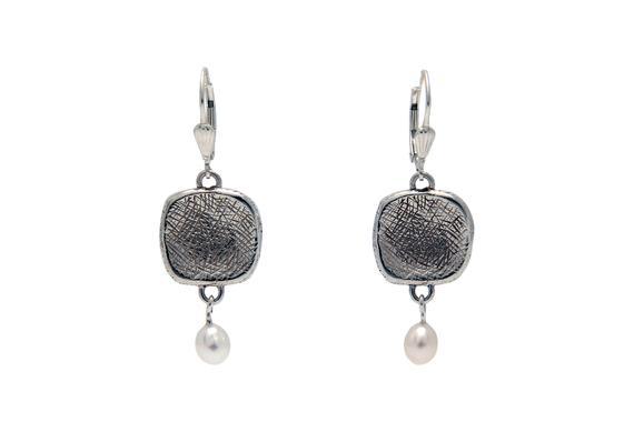 Beautiful Silver Squares Earrings