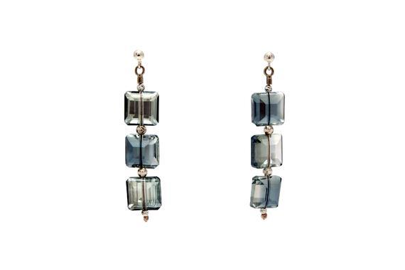 Elegant Crystal Squares Earrings