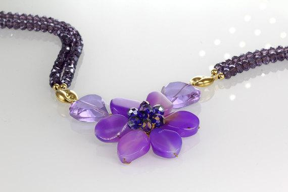 Four Shades Of Purple Necklace