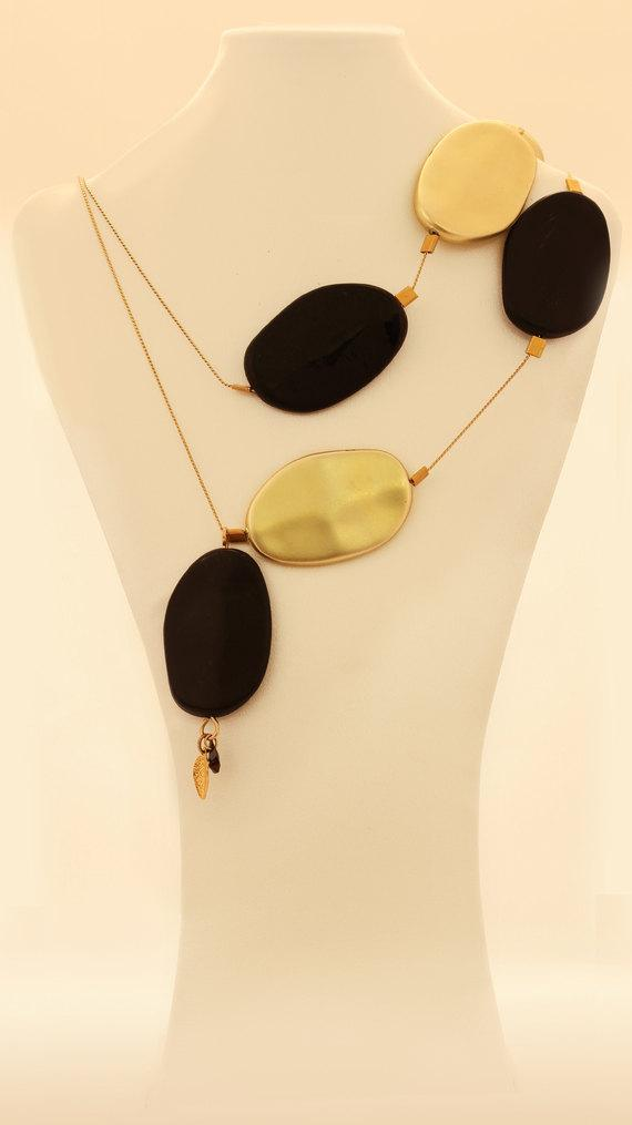 Asymmetric Chain Statement Necklace