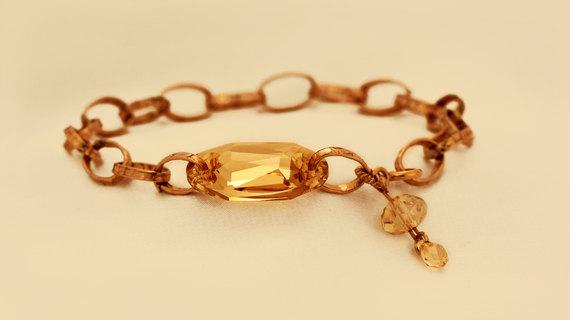 Gold Filled Bracelet combined with Swarovski Crystal