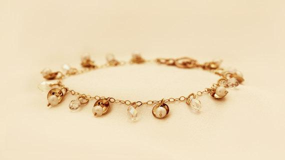 Pearls Shells Pendants Bracelet