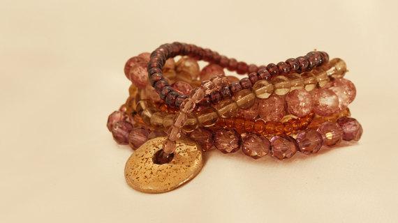 Bourdeaux Beads Bracelet