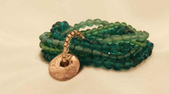 Green Beads Bracelet