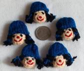 School Girl Motif in Blue