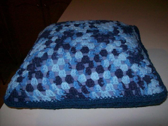 beautiful blue pillow