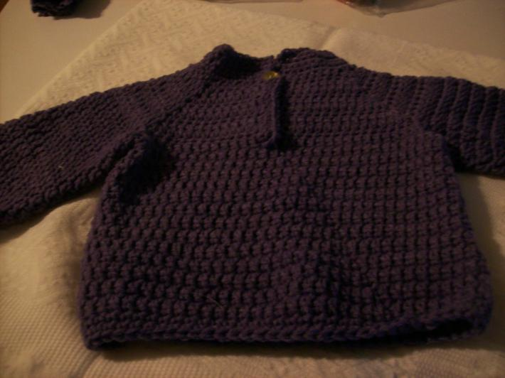 purple baby  sweater 1 year to 18 months