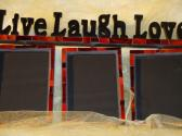 Live Laugh Love Red Mosaic Picture Frame